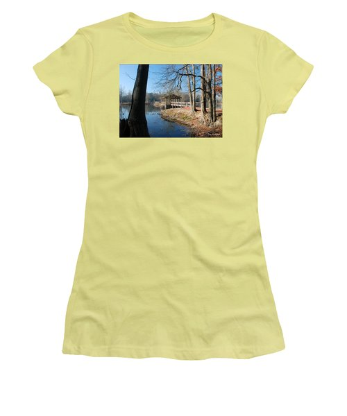 Brick Pond Park Women's T-Shirt (Junior Cut) by Kay Lovingood