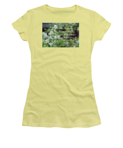 Bridal Wreath Christian Art Women's T-Shirt (Junior Cut)