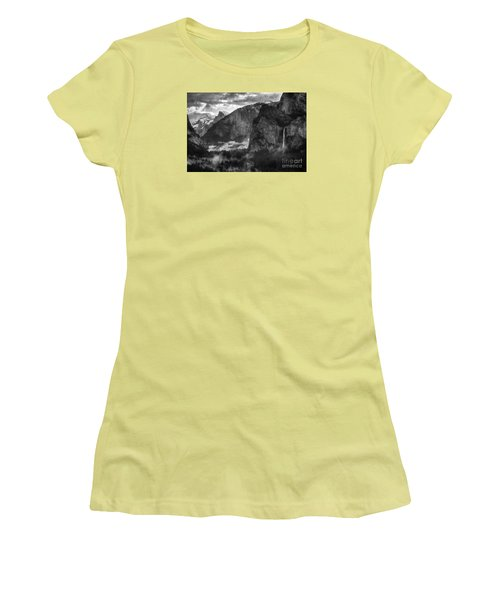Bridalvail Falls And Half Dome Women's T-Shirt (Athletic Fit)