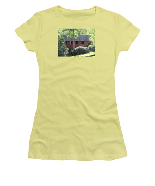 Bridge At Pont Rouge Farm Women's T-Shirt (Athletic Fit)