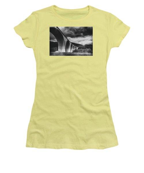 Women's T-Shirt (Junior Cut) featuring the photograph Bridge by Hayato Matsumoto