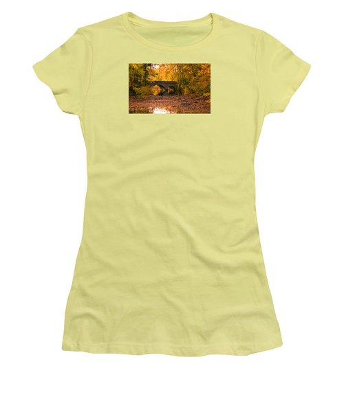 Women's T-Shirt (Junior Cut) featuring the photograph Bridge Of Gold by Cathy Donohoue