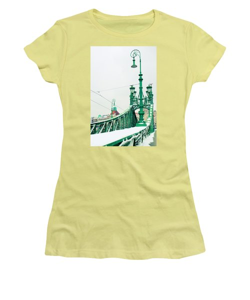 Bridge Of Liberty In Budapest Women's T-Shirt (Athletic Fit)
