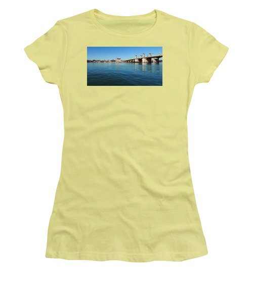 Women's T-Shirt (Junior Cut) featuring the photograph Bridge Of Lions, St. Augustine by Rod Seel