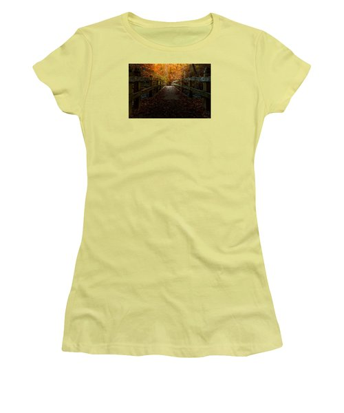 Bridge To Enlightenment Women's T-Shirt (Junior Cut) by Ed Clark