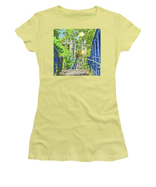 Women's T-Shirt (Athletic Fit) featuring the photograph Bridge To Your Dreams by LemonArt Photography