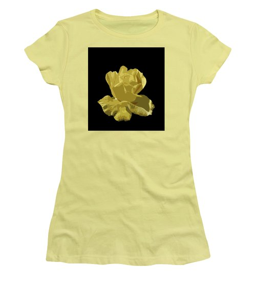 Women's T-Shirt (Junior Cut) featuring the photograph Bright Yellow Beauty by Laurel Powell