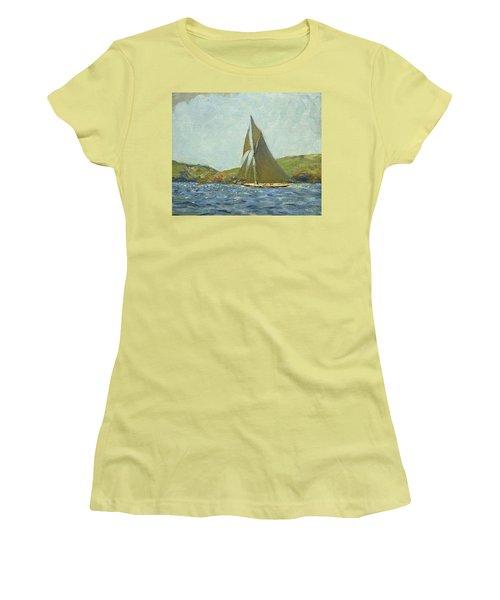 Women's T-Shirt (Junior Cut) featuring the painting Britannia by Henry Scott Tuke