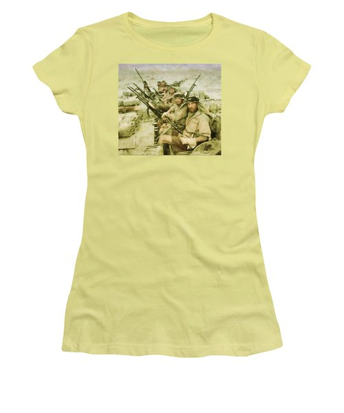 Women's T-Shirt (Junior Cut) featuring the painting British Sas by Michael Cleere
