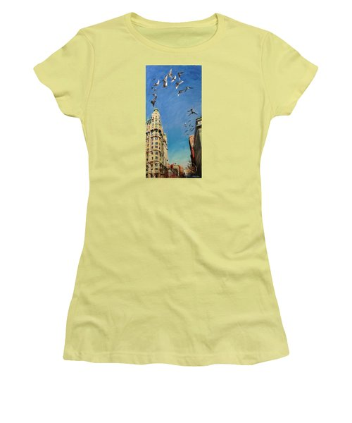 Broadway Pigeons No. 1 Women's T-Shirt (Athletic Fit)