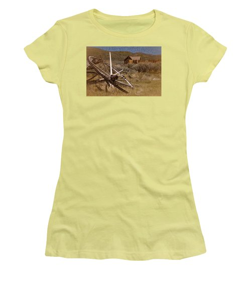 Broken Spokes Women's T-Shirt (Junior Cut) by Lana Trussell