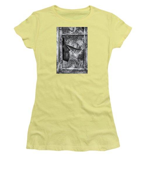 Women's T-Shirt (Junior Cut) featuring the photograph Broken Window by Tom Singleton