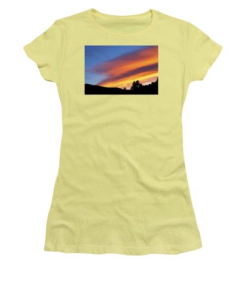 Broncos Sunset Women's T-Shirt (Junior Cut) by Kristin Davidson