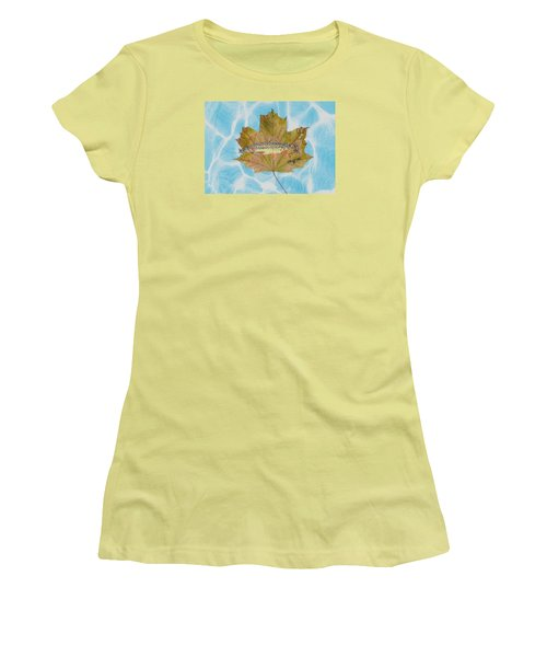 Brook Trout On Fly Women's T-Shirt (Junior Cut) by Ralph Root