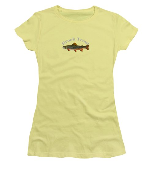 Brook Trout Women's T-Shirt (Junior Cut) by T Shirts R Us -