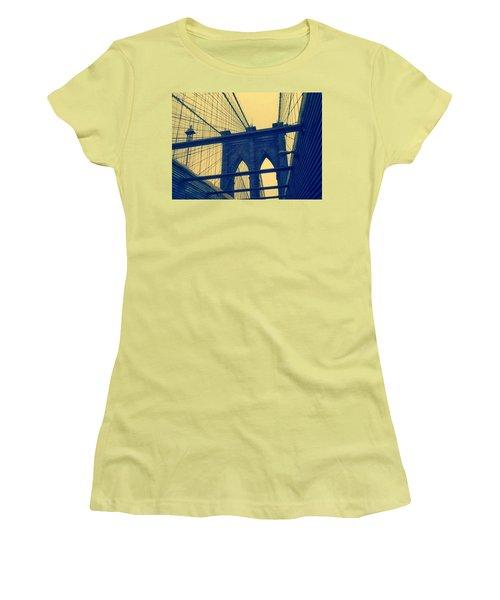 New York City's Famous Brooklyn Bridge Women's T-Shirt (Junior Cut) by Paulo Guimaraes