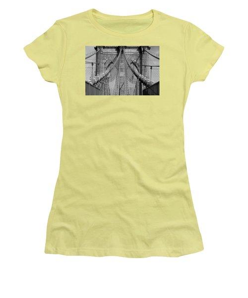 Women's T-Shirt (Junior Cut) featuring the photograph Brooklyn Bridge by Emmanuel Panagiotakis