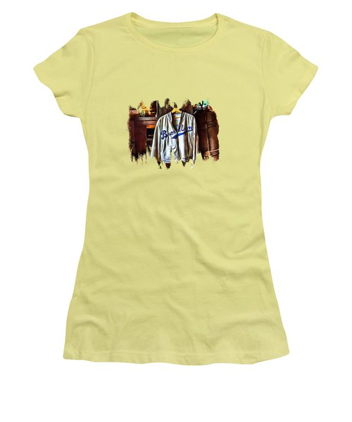 Women's T-Shirt (Junior Cut) featuring the photograph Brooklyn Dodgers Baseball  by Thom Zehrfeld