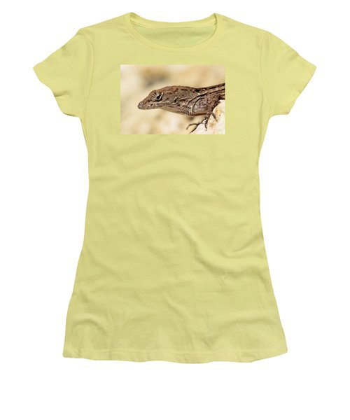 Brown Anole Women's T-Shirt (Junior Cut) by Doris Potter