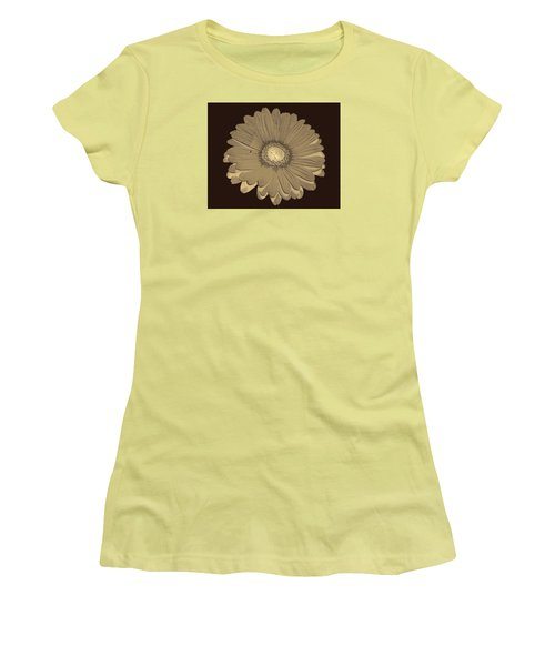 Women's T-Shirt (Junior Cut) featuring the digital art Brown Art by Milena Ilieva