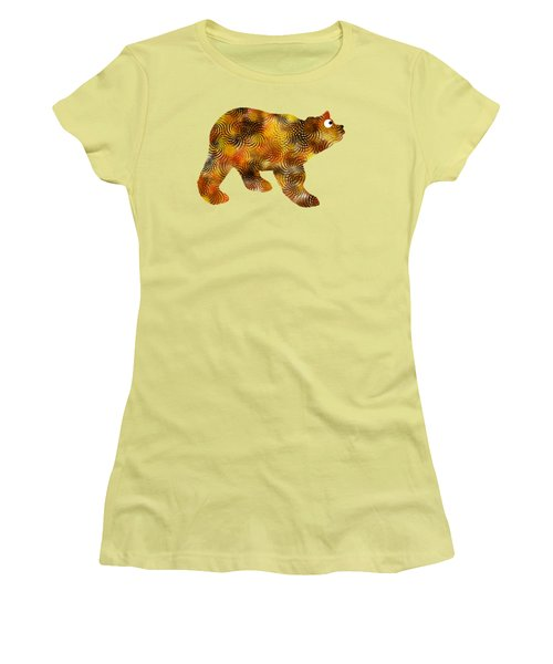 Brown Bear Silhouette Women's T-Shirt (Athletic Fit)