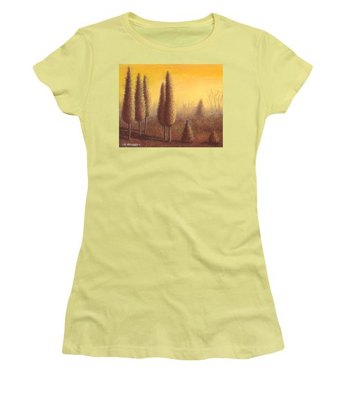 Brown Trees 01 Women's T-Shirt (Athletic Fit)