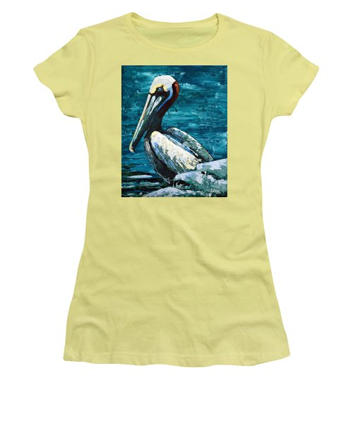 Brownie On A Seawall Women's T-Shirt (Athletic Fit)