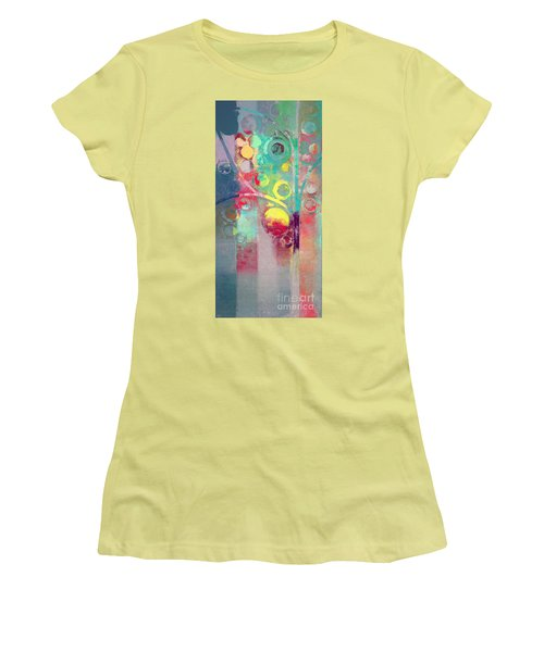 Women's T-Shirt (Junior Cut) featuring the painting Bubble Tree - 285l by Variance Collections