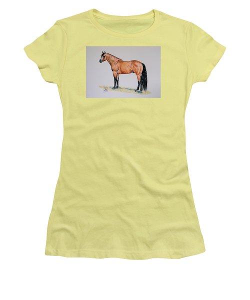 Buckskin Beauty Women's T-Shirt (Junior Cut) by Cheryl Poland