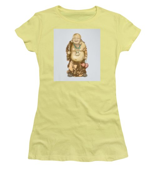 Women's T-Shirt (Athletic Fit) featuring the mixed media Buddha by TortureLord Art