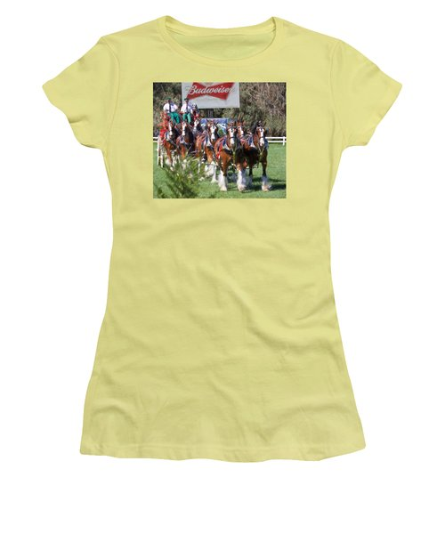 Budweiser Clydesdales Perfection Women's T-Shirt (Athletic Fit)