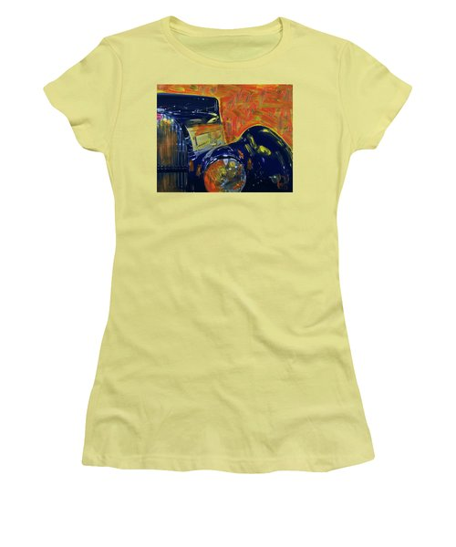 Women's T-Shirt (Junior Cut) featuring the photograph Bugatti Abstract Blue by Walter Fahmy