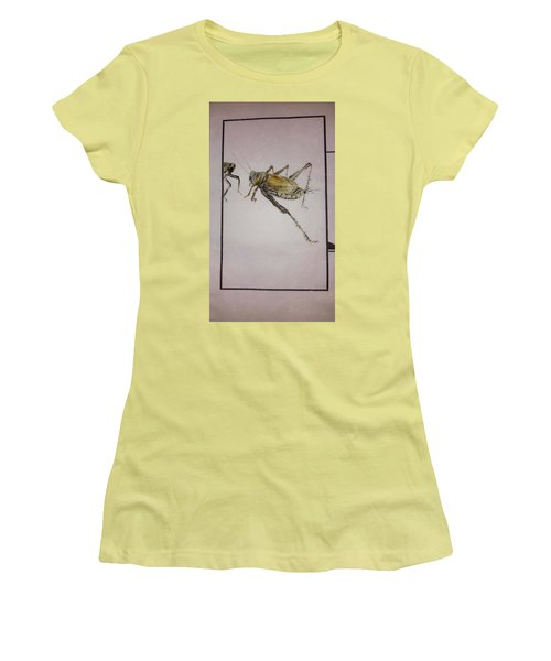 Bugs And Blooms Album Women's T-Shirt (Junior Cut) by Debbi Saccomanno Chan