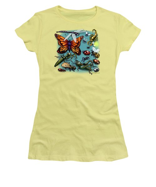 Bugs Women's T-Shirt (Junior Cut) by Kevin Middleton