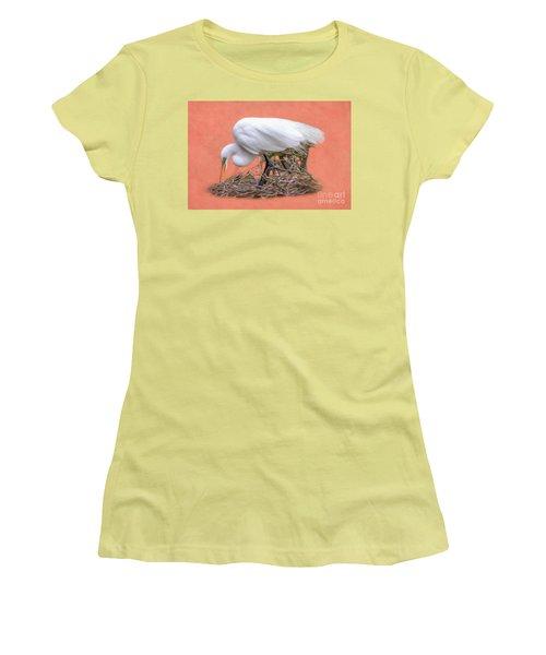 Building A Nest Women's T-Shirt (Junior Cut) by Marion Johnson