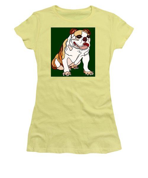 Bulldog Women's T-Shirt (Athletic Fit)