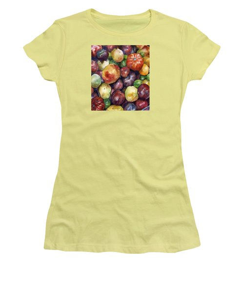 Bumper Crop Of Heirlooms Women's T-Shirt (Junior Cut) by Anne Gifford