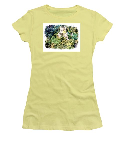Burg Eltz - Moselle Women's T-Shirt (Junior Cut) by Joseph Hendrix