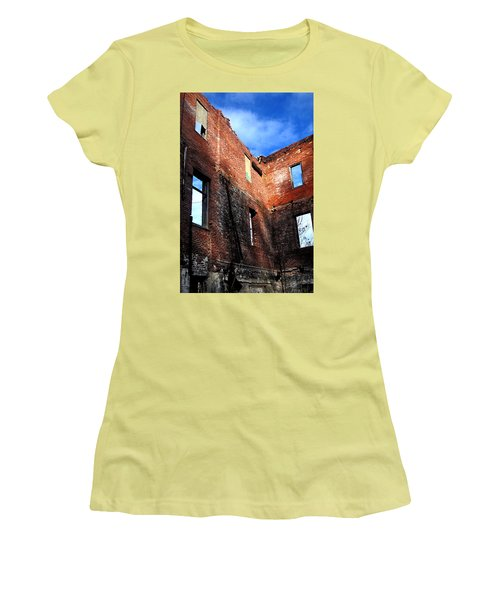 Burn Victim Women's T-Shirt (Athletic Fit)
