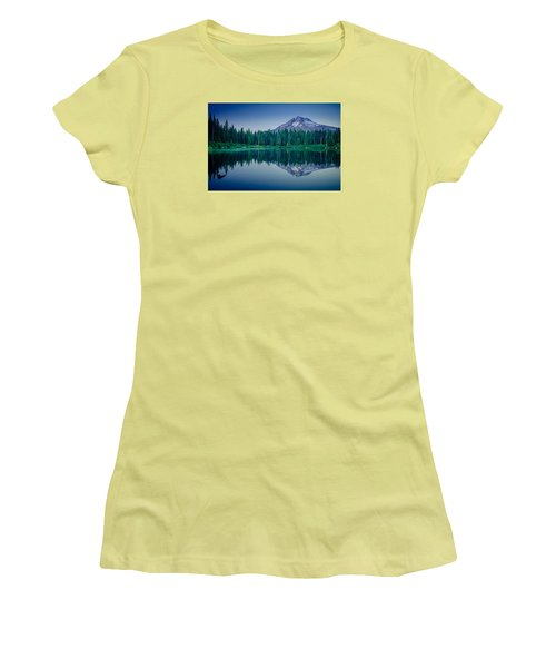 Burnt Lake Reflection Women's T-Shirt (Athletic Fit)
