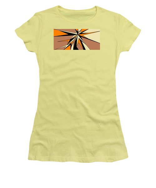 Burst Of Orange 2 Women's T-Shirt (Junior Cut) by Linda Velasquez