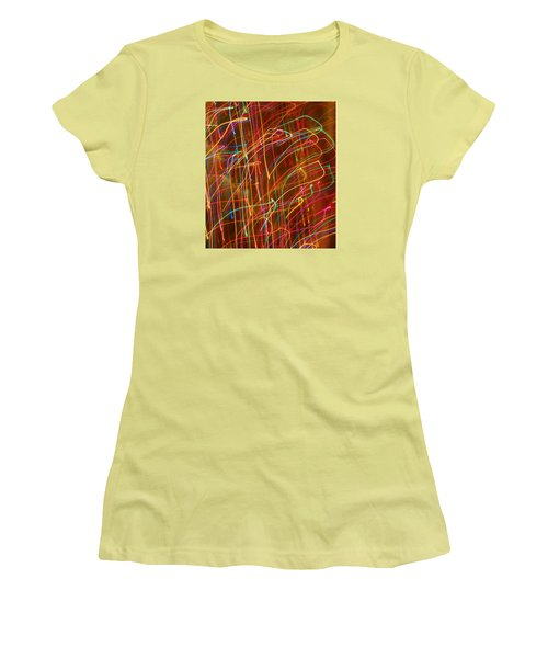 Women's T-Shirt (Junior Cut) featuring the photograph Bursting With Colors by Ramona Whiteaker