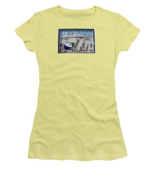 Vintage Bus Depot Sign Women's T-Shirt (Junior Cut) by Suzanne Lorenz