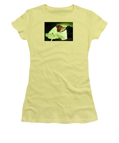 Women's T-Shirt (Junior Cut) featuring the photograph Butterfly 2 by Jean Bernard Roussilhe