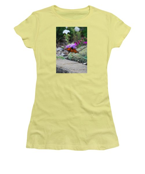 Women's T-Shirt (Junior Cut) featuring the photograph Butterfly Garden by Ramona Whiteaker