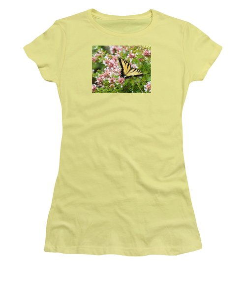 Women's T-Shirt (Athletic Fit) featuring the photograph Butterfly Haven by Julie Andel