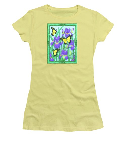Butterfly Idyll-irises Women's T-Shirt (Athletic Fit)