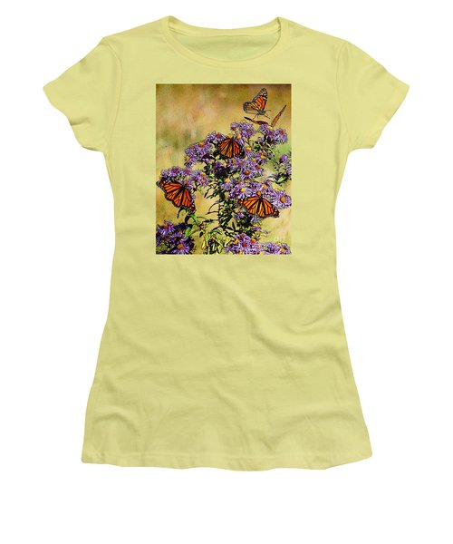 Butterfly Party Women's T-Shirt (Junior Cut) by Diane E Berry