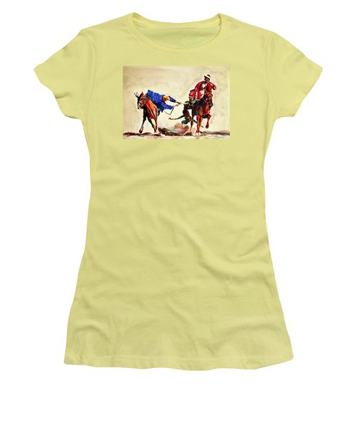 Buzkashi, A Power Game Women's T-Shirt (Athletic Fit)