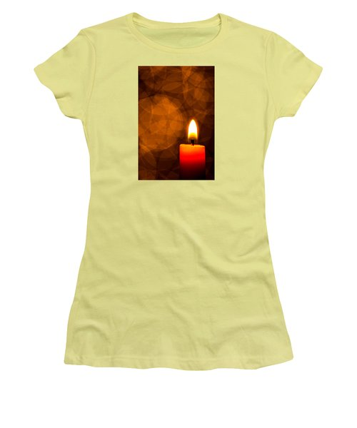 By Candle Light Women's T-Shirt (Athletic Fit)
